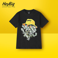 Vintage Loose Short Sleeve Printed Tshirt Men Cotton Fashion Hip Hop Tshirt Halloween Retro Tee Shirt Streetwear Clothing II50DX