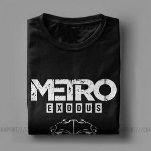 Image 3 - Men T Shirt Metro Exodus T Shirts Gas Mask Toxic Games Gaming Artyom Haunter Short Sleeves Tees Round Neck clothing Pure Cotton