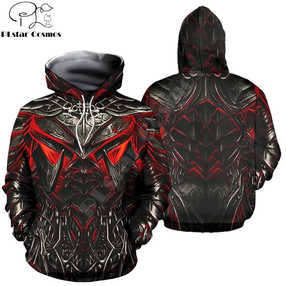 2020 Fashion Mens hoodies 3D printed Daedric Armor Sweatshirt Couple Hoodie Harajuku Autumn Streetwear Unisex Casual Tracksuits