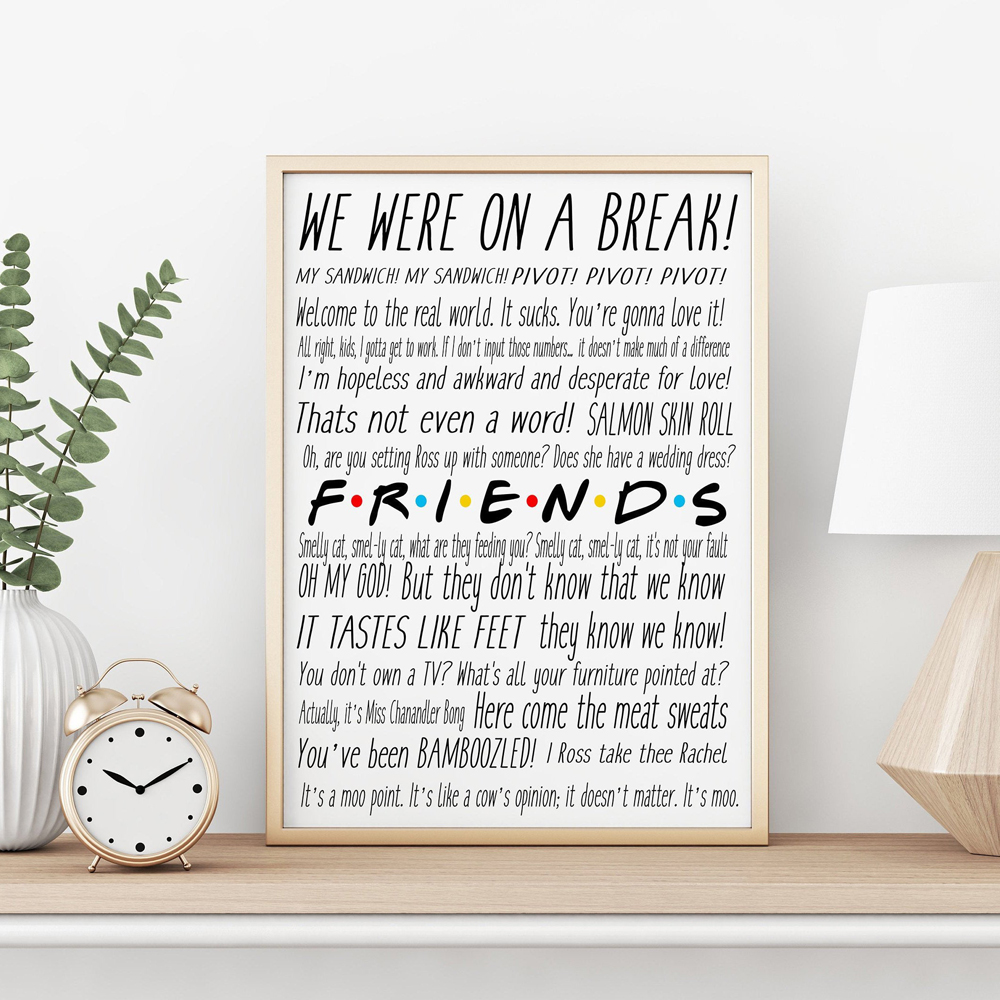 Friends TV Show Quote Posters and Prints Friends Gifts Wall Pictures Canvas Painting Room Wall Art Poster Home Office Decoration image