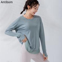 Женские футболки для занятий йогой с длинным рукавом укороченный