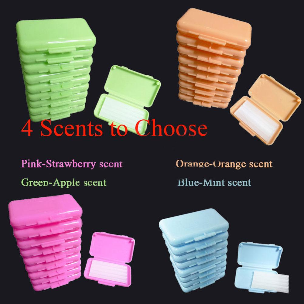 10Pcs/Set Fruit Scent Dental Orthodontic Wax For Braces Bracket Gum Irritation