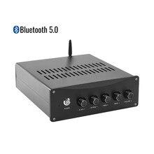 AIYIMA-Amplificador DE POTENCIA TPA3255 con Bluetooth 5,0, dispositivo de amplificación QCC3034 APTX Hifi, 150W X 2 + 300W, ajuste de graves triples de 2,1 canales