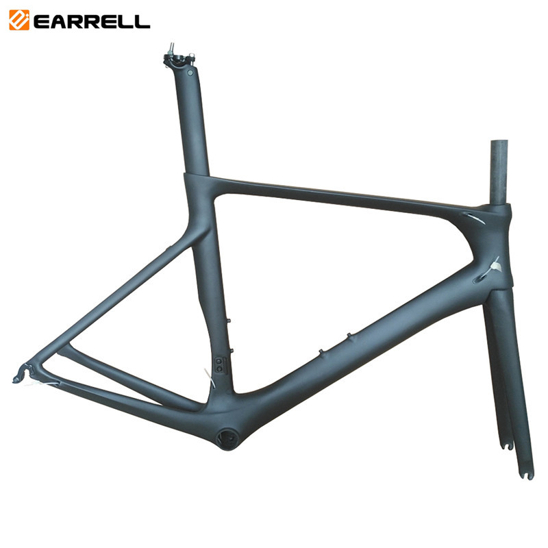 2019 T1000 New EARRELL Full Carbon Fiber Road Frame T1000 Bicycle Frame DI2 OEM Carbon Road Frame 50.5/53/56cm Matte Glossy