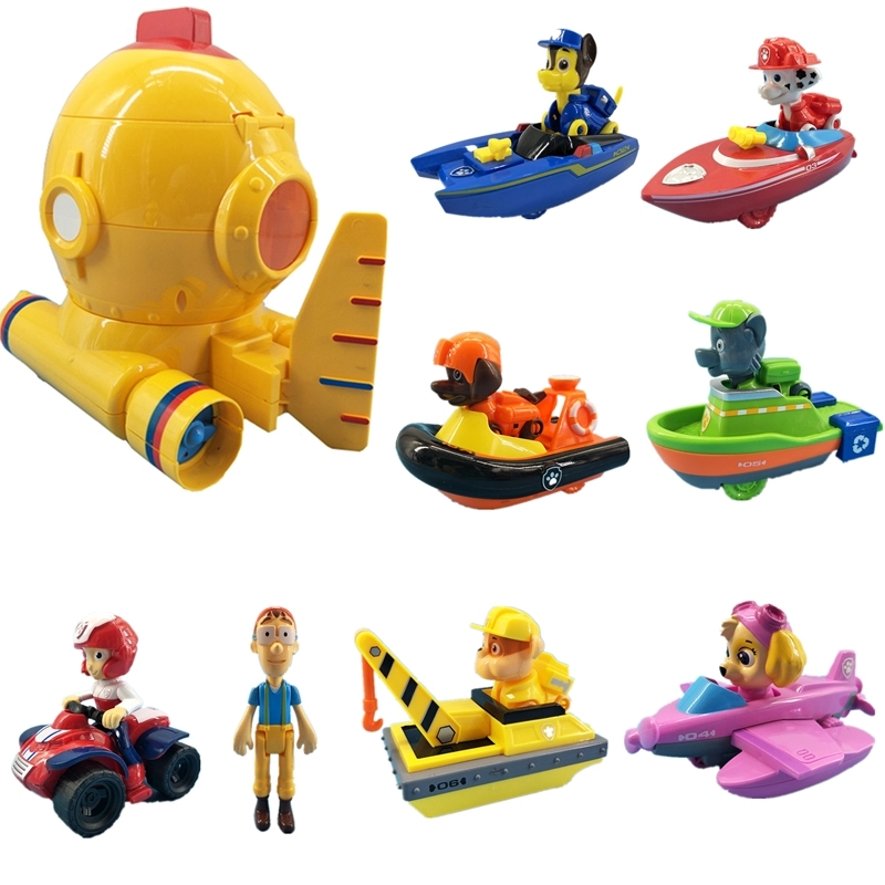 Paw Patrol Toys Set Projection 7 Cars Scene simulation Rescue Base Cruiser Action Figures Anime Model Toys for Children Gift in Action Toy Figures from Toys Hobbies