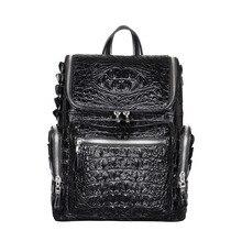 Crocodile leather backpack men's backpack large capacity travel commuting business bag computer backpack mini backpack purse