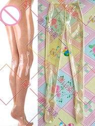Прозрачные выдувные латексные брюки мужские латексные леггинсы Индивидуальные