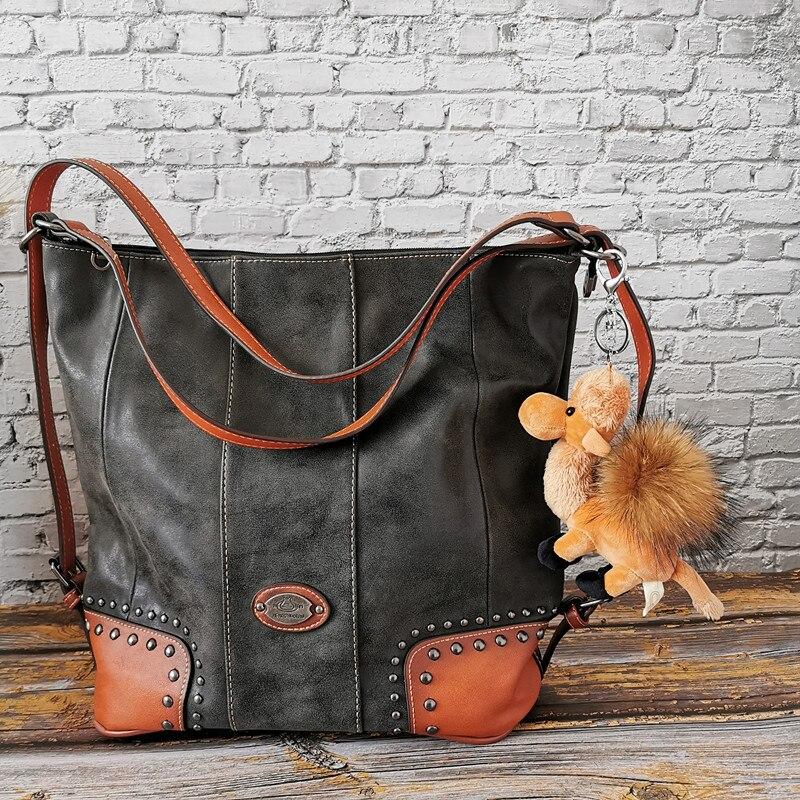 2019 Branded Genuine Leather Bags Women Vintage Handbags High Quality Big  Tote Bags For Women Shoulder Bag Handbags