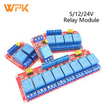 5/12/24V Relay Module 1/2/4 Road Optocoupler Isolation Support High And Low Level Trigger Development Board 1Pcs