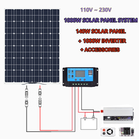 140w 150 Watt 12 Volt Solar Panel for Off Grid 1000W Large Solar System House Battery Charging Boat Caravan RV Solar Arrays
