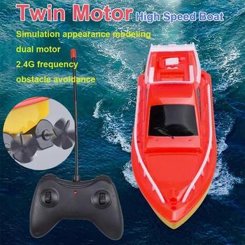 Pilot łódź 20 metrów zasilany podwójny silnik wysokie dzieci przyjaciele prezent prędkość wyścigi na świeżym powietrzu łódź dla chłopca dzieci łódź tanie i dobre opinie Dongzhur CN (pochodzenie) Z tworzywa sztucznego 4 kanałów Motorową Remote Control Boat Powered