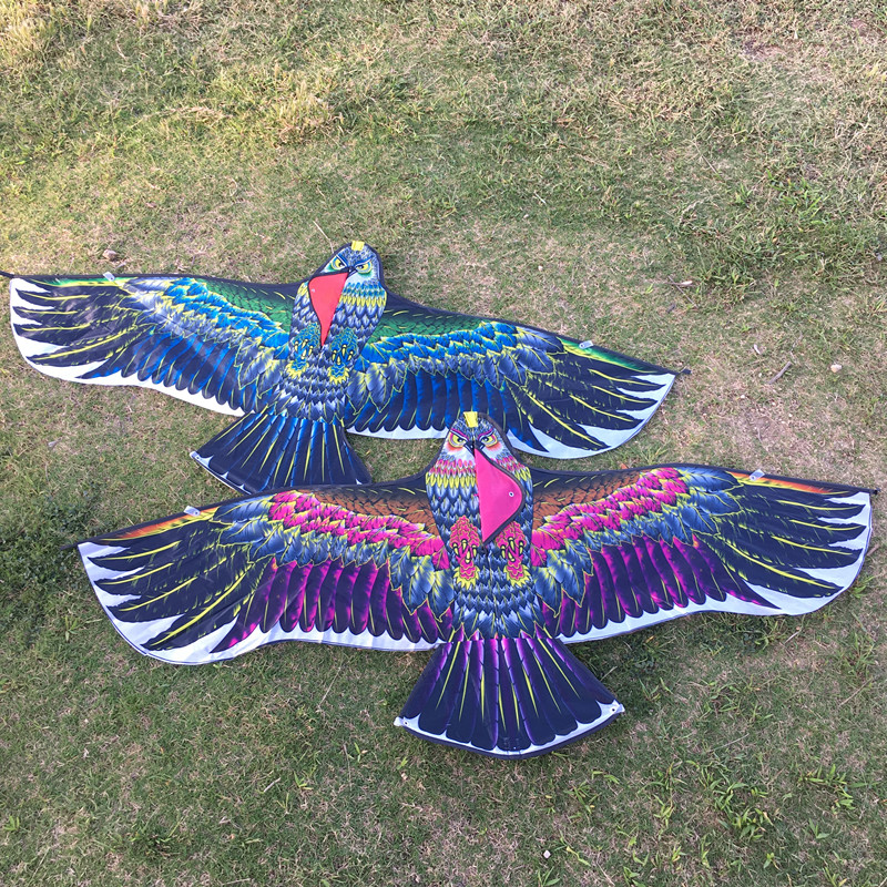 New 1.3m Eagle Kite With Kite Line Bird Kite Outdoor Sports Flying Toy Children Gift Fun Animal Tear-proof Kite Easy To Fly