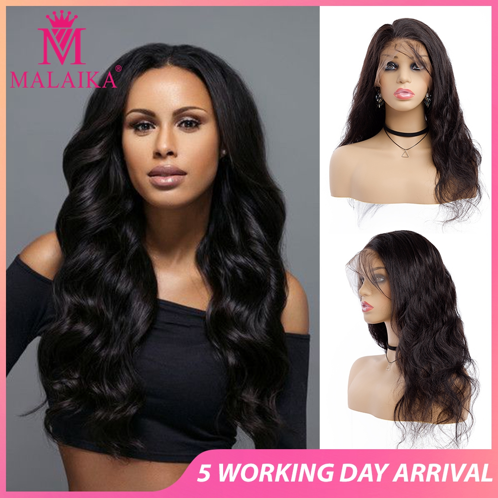 MALAIKA Full Lace Human Hair Wigs Pre Plucked 130% Brazilian Body Wave Full Lace Wigs For Women Hair Wig Christmas