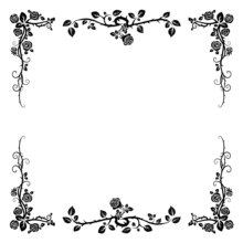 ZhuoAng Flowers Leaves Frame Clear Stamps For DIY Scrapbooking/Card Making/Album Decorative Silicon Stamp Crafts