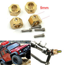 4 stks/set 6/8/9/11/12mm RC Auto Zware Hex Wielnaven Voor 1/10 traxxas TRX-4 Crawler TRX4(China)