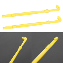 2pcs in Packed Easy Hook Loop Tyer & Disgorger Tool Tie Fast Knot Tying Tool for Fly Fishing Line Tier Kit Yellow Small tools