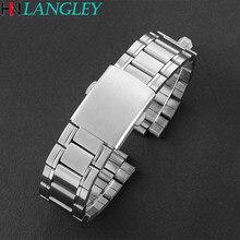16mm 18mm 20mm 22mm 24mm elos de aço inoxidável pulseiras relógio de pulso cinta fecho pulseira substituição banda de peso leve