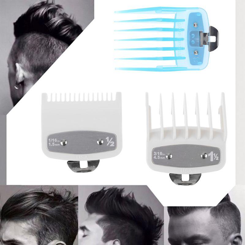 8/10Pcs Barber Shop Styling Guide Comb Set Transparent Hair Clipper Limit Comb|Personal Care Appliance Parts|Home Appliances - title=