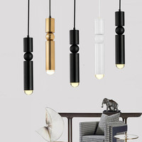 Bar ktv bar chandelier modern minimalist bed metal bullet single head lamp minimalist desk cashier chandelier Long tube