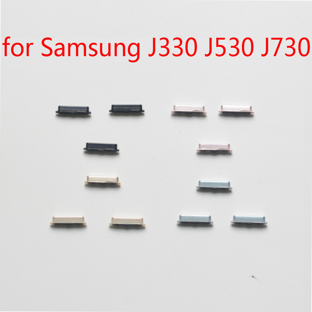 3pcs/set For Samsung Galaxy J3 J5 J7 Pro 2017 J330 J330F J530 J530F J730 J730F Phone Housing New Side Key Power Volume Button