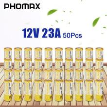 Phomax 50 Pz/pacco Batteria a Secco Alcalina 23a 12 V Giocattolo Elettronico Usa E Getta Bateria 8F10R 8LR23 CA20 A23 L1028 23AE Orologio batteri