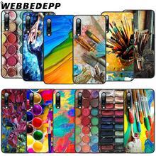 WEBBEDEPP Colorful Watercolors Set Pain Soft TPU Case for Xiaomi Mi 6 8 A2 Lite 9 A1 Mix 2s Max 3 F1 9T A3 Pro CC9E Cover