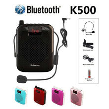 K500 ميكروفون سمّاعات بلوتوث قابل للنقل ذاتيّ يقرن مضخم صوت مكبر صوت مكبر صوت USB شحن عمود tron smart