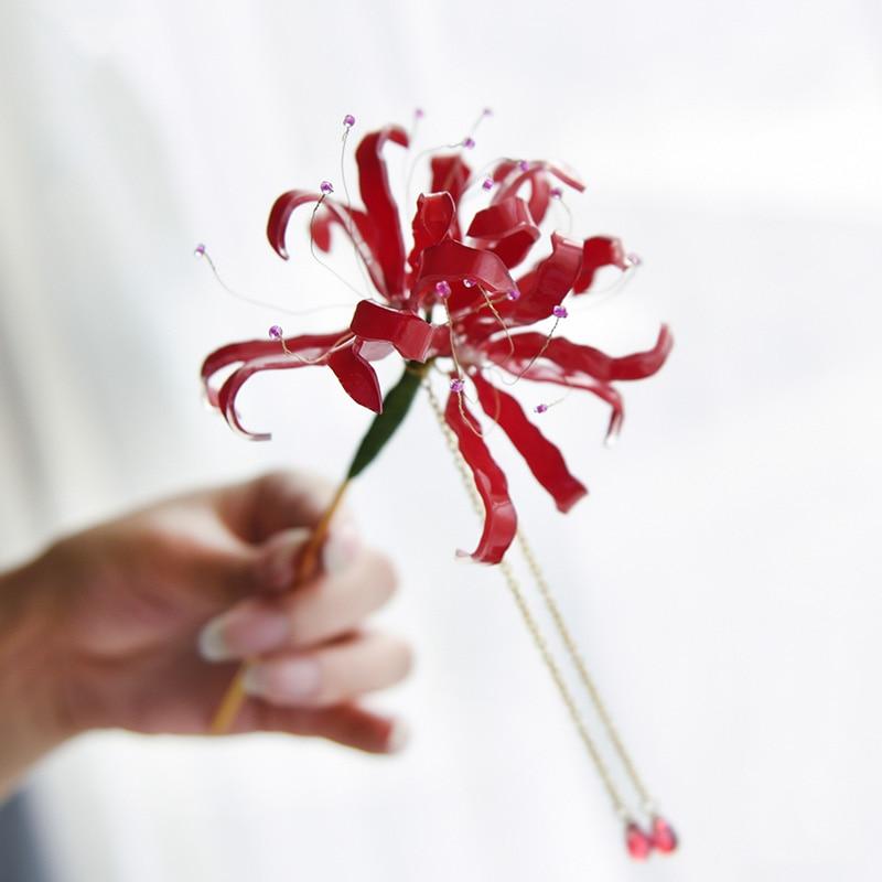 JINJIAN 2019 New Bianhua Lantern Pendant Tassel Step Shake Han Fu Hair Accessories Hairpin
