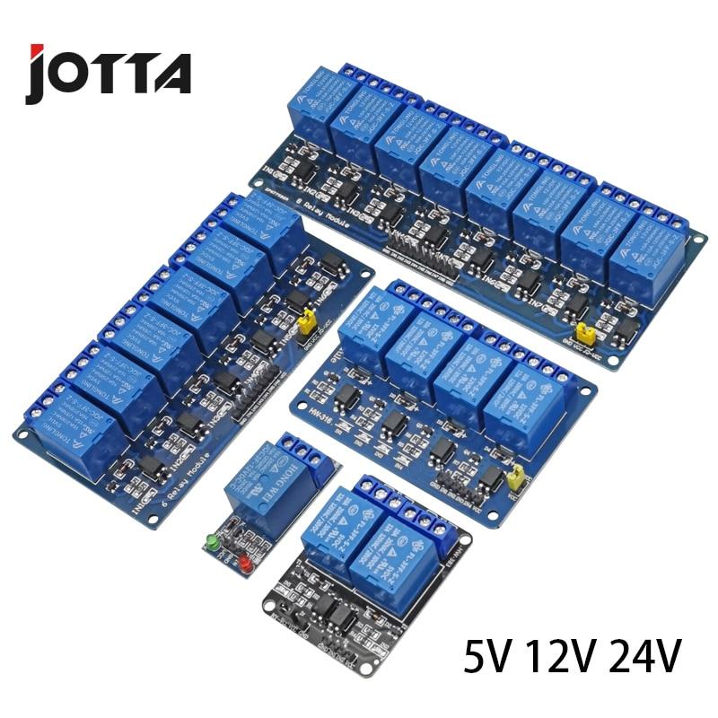 5V 12V 24V Relay Module With Optocoupler Relay Output 1 2 4 6 8 Way Relay Module For Arduino