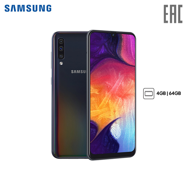 Смартфон Samsung Galaxy A50 4+64GB (2019)