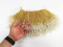 Handmade Beaded Tassel Fringe Handmade Lace Tassle Trimming for Wedding Bridal Gown Dress/party fringe trim SGTM8 tassel trim flounce layered neckline dress