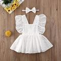 Кружевное лоскутное платье pudcoco для новорожденных и маленьких девочек, комбинезон с вырезами, комплекты одежды
