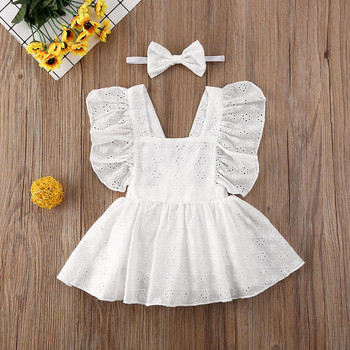 pudcoco Newborn Infant Baby Girl Princess Lace Patchwork Hollow Out Dress Clothes Jumpsuit Outfit Sets pudcoco cute newborn kids baby girl infant lace romper dress jumpsuit playsuit clothes outfits