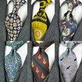 Gravatas impressas vintage padrão abstrato caráter multicolorido 10 cm masculino gravata 100% impressão de seda frete grátis artesanal único