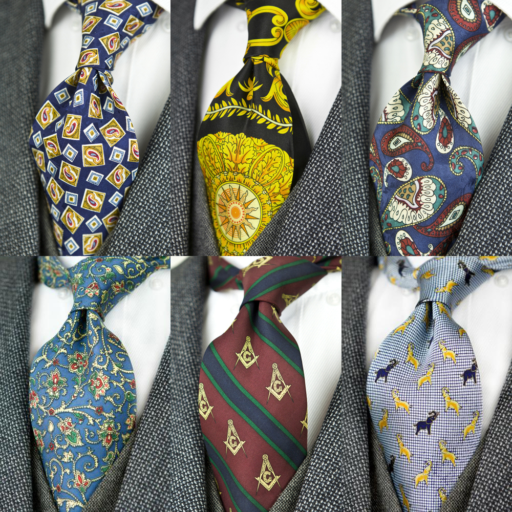 Printed Ties Vintage Pattern Abstract Character Multicolor 10 Cm Mens Necktie 100% Silk Printing Free Shipping Handmade Unique