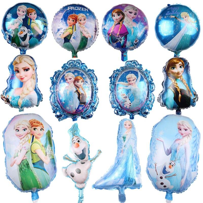 Hot Cartoon Disney Frozen Snow Treasure Balloon Decoration Happy Birthday Christmas Aluminum Balloon Wedding Supplies