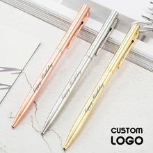 Новый металлический с индивидуальным логотипом шариковая ручка