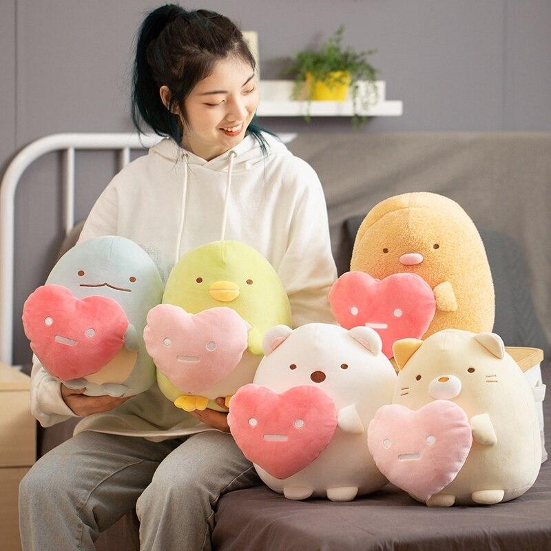 Soft Toy Sumikko Gurashi San-X Corner Plush Toy Japanese Animation Penguin Bear Cat With Heart Stuffed Doll Girls Children Gift