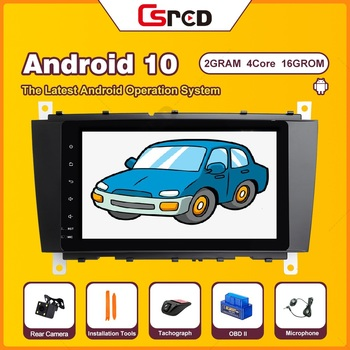 Csred IPS DSP 8 Android 10 For Mercedes Benz C W203 CLK W209 Volkswagen Crafter LT3 GPS Navigation Car Multimedia Auto Radio image