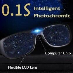 0.1 der Intelligente Photochrome Sonnenbrille Herren Frontier Dekoration Designer Frauen Sonnenbrille Sicheres Fahren Shades Brillen