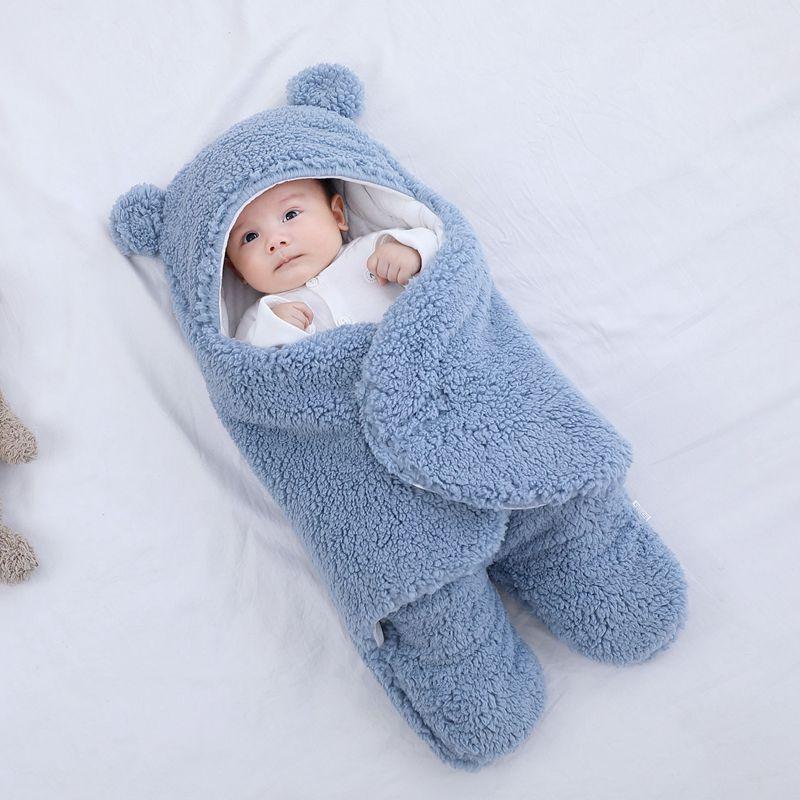 Baju tidur bayi bulu lembut berbulu lembut yang baru lahir menerima - Peralatan tempat tidur - Foto 3
