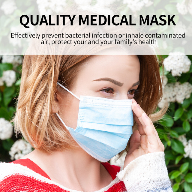 50pcs respirator Disposable Face Mask mouth Mask Protective caps dropshipping pm2.5 wholesale  Anti Odor Smog Custom dust masks 1