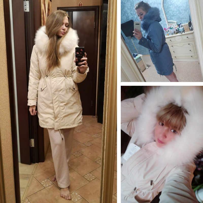 Yeni kadın uzun ceket sonbahar kış sıcak kadife kalınlaşmak Faux kürk palto Parka kadın düz büyük cep ceket dış giyim