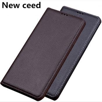 Genuine Leather Magnetic Flip Case For LG K12 Plus/LG K50/LG K40/LG K30/LG Q60/LG Stylo 5 Case Standing holder Phone Bag Coque фото
