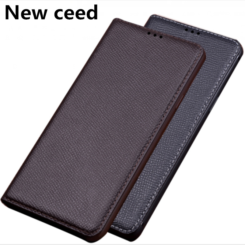 Genuine Leather Magnetic Flip <font><b>Case</b></font> For <font><b>Asus</b></font> <font><b>Zenfone</b></font> 6Z ZS630KL/<font><b>Asus</b></font> <font><b>Zenfone</b></font> <font><b>6</b></font> <font><b>2019</b></font> <font><b>Case</b></font> Standing holder Phone Bag Coque Capa image