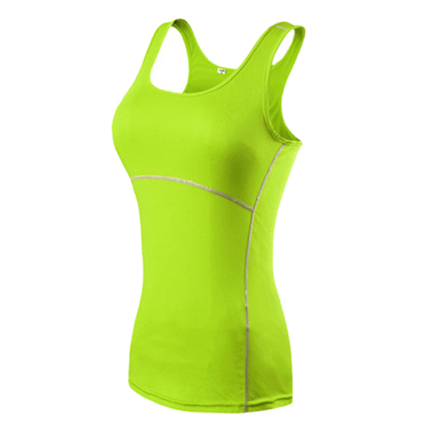 Ladies Sports Sleeveless Quick-drying Breathable Stretch Tights Yoga Vest ALS88