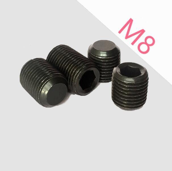 M10x1//1.25 M12x1.25 Flat Point Grub Hex Socket Set Screws Screw 10Pcs