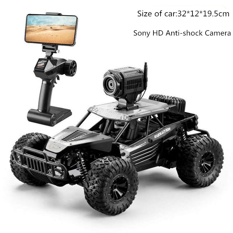 32Cm High-speed RC Rock Car with WIFI HD Camera Off-road Smart Vehicle Car Mobile Phone Control Car Model Racing Buggy Toy image