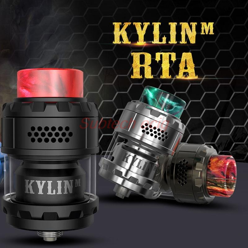 2019 Newest Kylin M RTA Rebuildable 3ml/4.5ml 24mm Tank Atomizer Top Honeycomb Airflow Large Build Deck Vaporizer Vape Tank