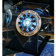 цена на New Iron Man Arc Reactor Remote Light Figure MK1 Iron Man DIY Parts Toy Iron Man Helmet Collection Model Size Toys For Gift